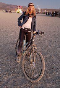 Sara Goff Held talks on Bridging Minds Collective at Burningman in Nevada